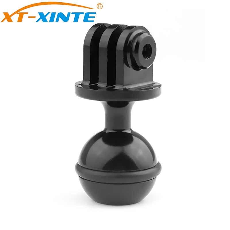CNC 1 אינץ כדור ראש חצובה הר מתאם אורות Stand מחזיק עם 3/8 בורג חור לgopro גיבור 7 6 5 4 Yi SJCam ספורט מצלמה