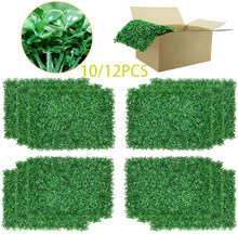 10/12PCS Artificial Boxwood Panels Topiary Hedge Plant, Privacy Hedge Screen UV Protected for Outdoor Indoor