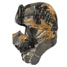 Taktyczna wojskowa Camo Boonie Cap mężczyźni zima odkryty wiatroszczelna ciepła maska polarowa czapka narciarska wiadro wędkarskie kapelusze polowanie tanie tanio HAN WILD Camouflage hats Drukuj winter fleece cap outdoor winter Hunting Hats fleece hat hat for hunting ski hat hunting cap