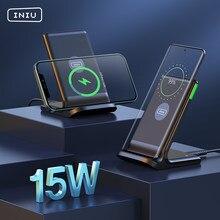 INIU – support de chargeur de téléphone sans fil Qi 15W, indicateur LED Auto-adaptatif, coussinet de Charge rapide pour iPhone 12 Xiaomi Mi Huawei Samsung LG