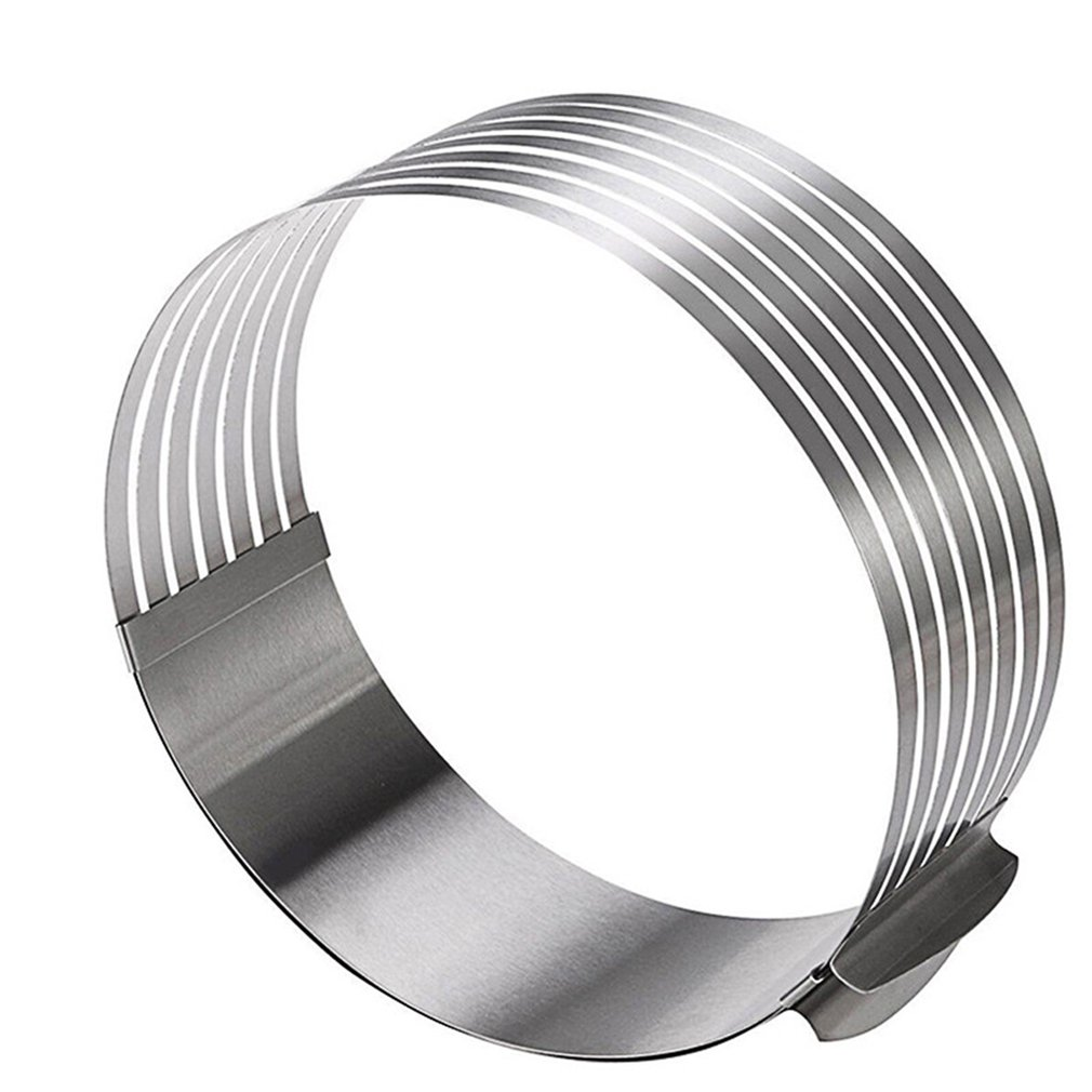 Adjustable Stainless Steel Pieces Retractable Circular Big Mousse Ring Round Cutting Tool Cake Cutter Cake Mold