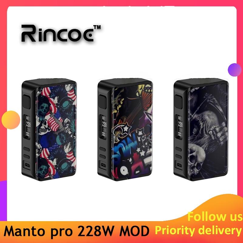 New Arrival Original Rincoe Manto Pro Box MOD 228W E-cig Vape Mod Power By 18650 Batteries Vs Cigpet Capo/ Dovpo Mvv