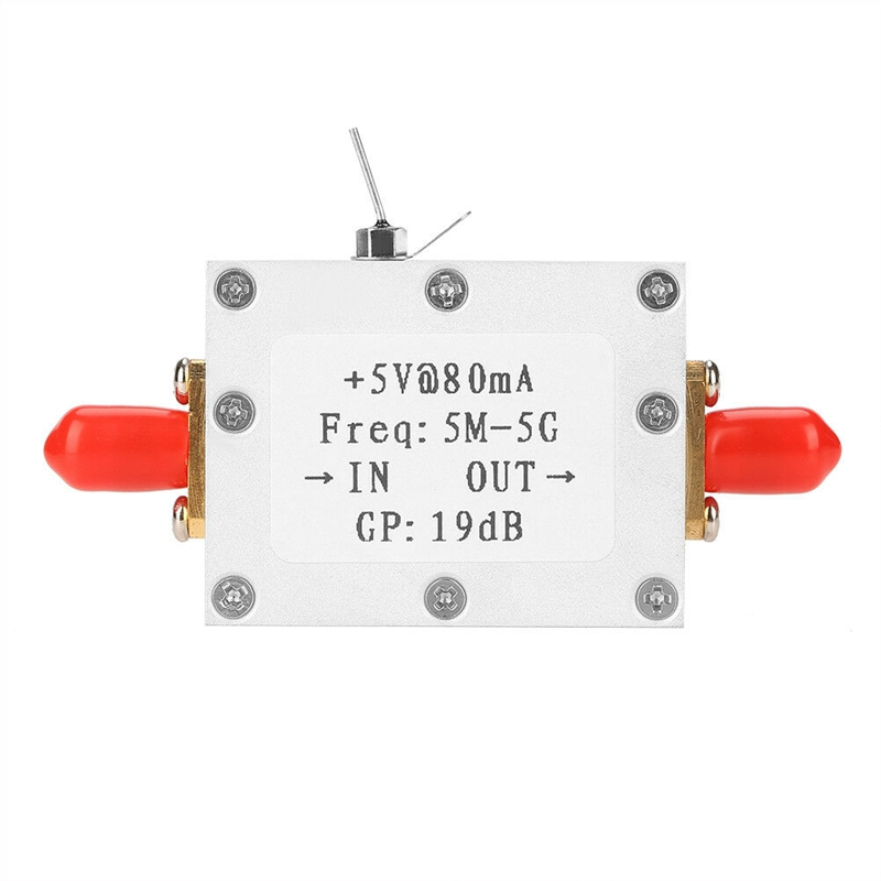 New 5M-5GHz Wideband RF Signal Amplifier Broadband Module 19DBm At 2GHz Low Noise Receiver Amplification