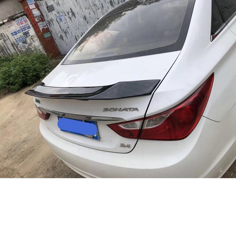 Image 5 - For Hyundai Sonata Spoiler 2010 2014 carbon fiber Rear lip rear  spoiler High quality color spoiler Sonata 8 rear wing Auto  partsSpoilers