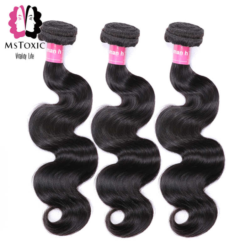 Mstoxic Hair Brazilian Body Wave Bundles 8-40inch Human Hair Bundles Natural Color Remy Hair Extensions Free Shipping