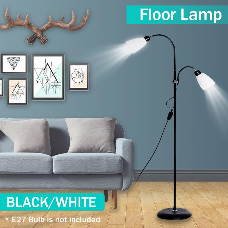lampada de assoalho moderna 2 luzes suporte noturno sala estar ajustavel hotel iluminacao e27 led ac