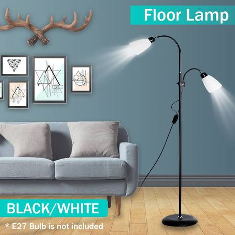 lampada de assoalho moderna 2 luzes suporte noturno sala estar ajustavel hotel iluminacao e27 led
