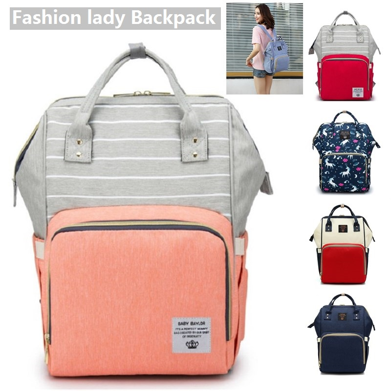 Good Quality Baby Diaper Backpack Mummy Maternity Large Capacity Nappy Travel Backpack Nursing Bag For Baby Care Women's Nappy