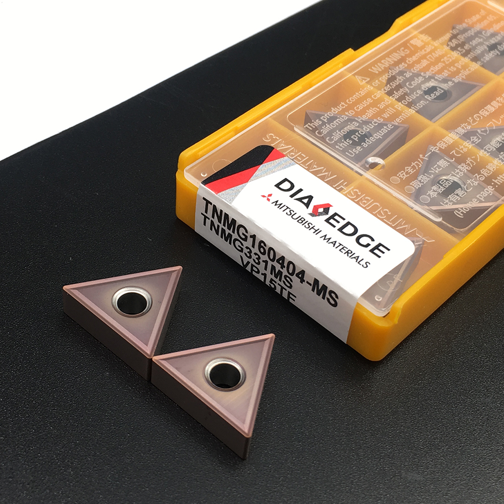 100% Original TNMG160404 MS VP15TF External Turning Tool Carbide Insert For Lathe For Stainless Steel AccesoriosDeTorneria