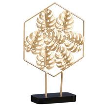 Nordic metal leaf Ornament modern iron decoration home decoration accessories living room office desktop decoration crafts недорого