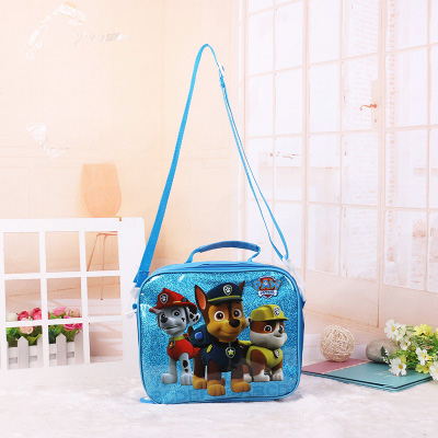 Paw Patrol Lunch Bag,School Bag, Pencil Case, Three-piece Suit For 3-7 Year Old Children's Birthday Gift For Boys And Girls