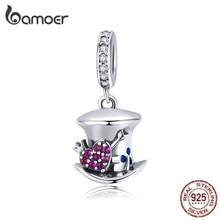 bamoer Magic Forest Adventure Collection Magical Hat Dangle Pendant Charm for Original Bracelet Necklace DIY Jewelry SCC1441