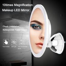 10x увеличение светодиодный зеркало настенное патрон Установка 360 градусов теплый холодный светильник отрегулировать Батарея USB Питание