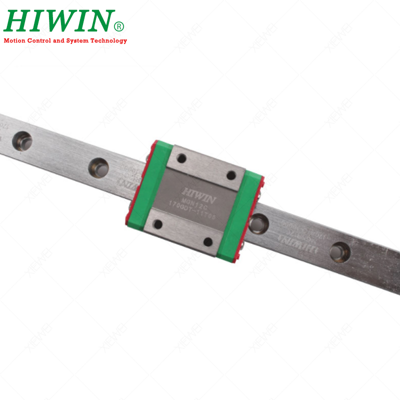 HIWIN MGN12C chariot à blocs coulissants avec 300mm 350mm 400mm 500mm MGN12 Rail de guidage linéaire pour kit de CNC Miniature de 12mm - 4
