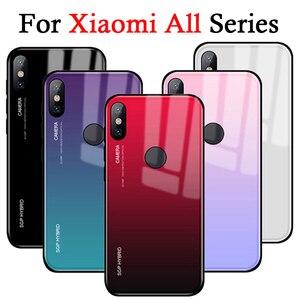 For Xiaomi Redmi S2 Mi a2 lite Gradient Case Cover Coque Bumper Glass On ksiomi remi Note 5 Pro Plus 5A 4X 3 4 X 6 mi8 SE A2 A1(China)