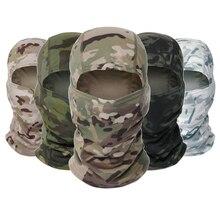 Тактическая камуфляжная Балаклава маска для лица CS Wargame велосипедная армейская охотничья велосипедная Ветрозащитная маска для шлема Военная маска CP шарф