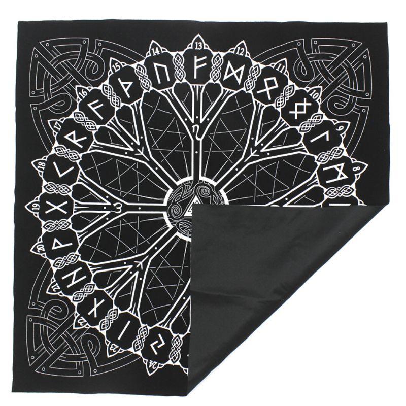Nordic Simple Rune Origin Tree Tablecloth Divination Runic Tarot Game Tarob K1KD