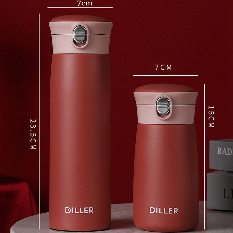 DILLER MLH8778 Thermos Double Layer 304L Stainless Steel Thermos Thermos Coffee Tea Milk Travel Cup Kettle