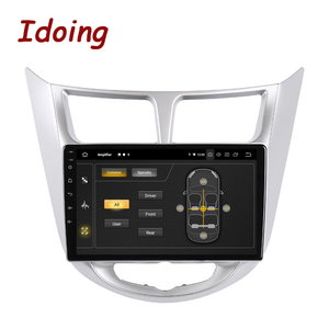 Image 2 - Idoing راديو السيارة Android ، نظام الملاحة GPS ، Carplay ، مشغل الوسائط ، no 2din ، لشركة Solaris 1 2 ، Hyundai أكسنت Verna (2010 2016)