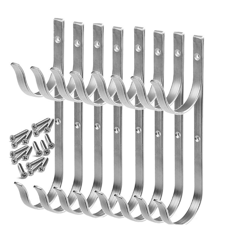 Pool Pole Hanger Premium Aluminium Holder Set  Hooks for Telescopic Poles  Skimmers  Leaf Rakes  Nets  Brushes  Vacuum Hose  Gar|Hooks & Rails| |  - title=