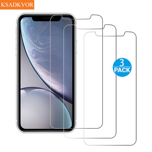 3Pcs Full Cover Glass on the For iPhone X XS Max XR SE2 Tempered Glass For iPhone 7 8 6 6s Plus 5 5S SE 11 Pro Screen Protector(China)