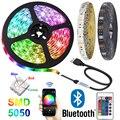 Bluetooth 5050 RGB Светодиодные ленты света DC 5V Тира USB неоновая лента taśma полосатая повязка окружающей среды Подсветка для дома номер ТВ украшение ...