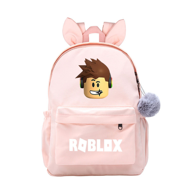 2021 Cartoon New Cat Ears Nylon School Backpack For Children Waterproof BookBags Teenager Rabbit Ear School Backpack Girls Boys