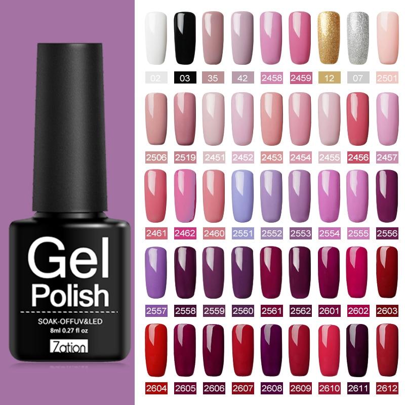 Gel Varnish Gel Nail Polish Hybrid Nail Art Semi Permanent UV Led Base Top Coat Gel Polish Nails