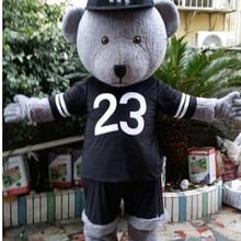 Серый плюшевый мишка маскарадный костюм костюмы для косплея вечерние костюмы для игры нарядное платье наряды рекламная акция Хэллоуин Рождество Пасха взрослые
