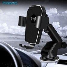 FDGAO Quick Charge Qi Drahtlose Auto Ladegerät Montieren 10W Schnelle Lade Air Vent Auto Telefon Halter Für Samsung S10 iPhone 11 XS XR X 8