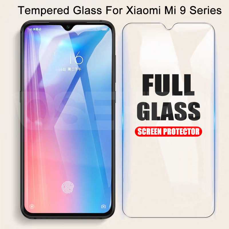 9H Protective Tempered Glass On The For Xiaomi Mi 9 8 SE 9T Pro CC9 CC9E Mi A3 A2 Lite Play F1 Screen Protector Glass Film Case