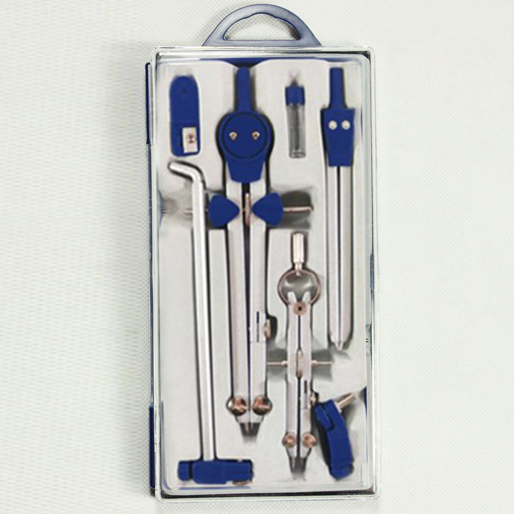 High Quality Alloy Drawing Drafting Spring  Set Technical  School Trimmability Compasses With Long Rod