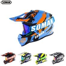 Motorcycle Helmet SOMAN Dirt-Bike Capacete Off-Road 633 ATV Ece-Approved Downhill