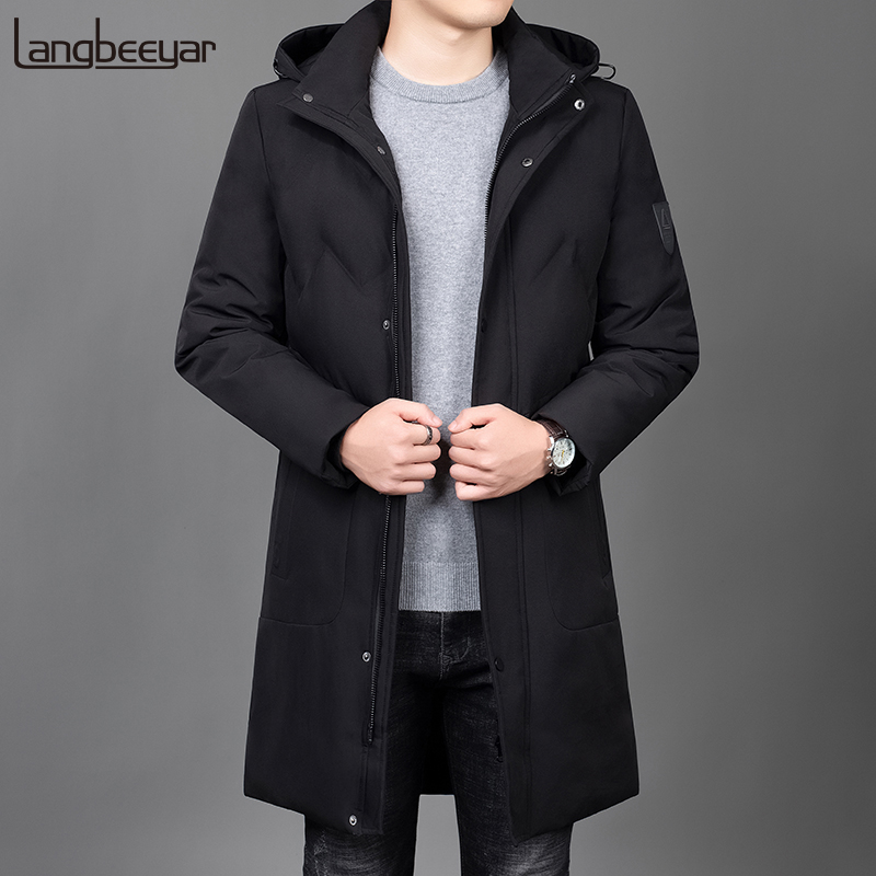 2019 Thick Winter Fashion Brand Jackets Mens Long Korean Streetwear Parkas Quilted Jacket Puffer Bubble Coats Men Clothing