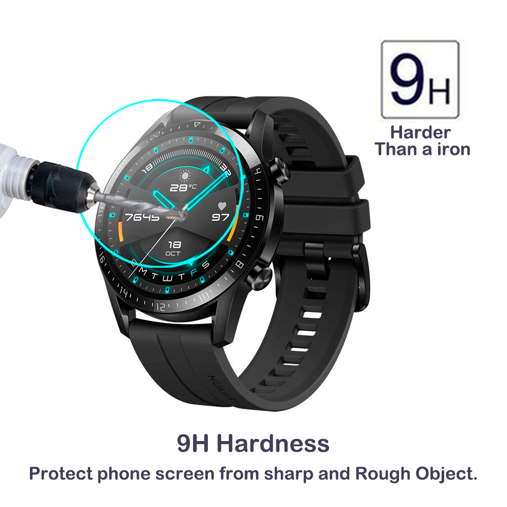 For Huawei Honor Magic Watch GT 2 42mm 46mm Smartwatch 2.5D Tempered Glass Screen Protector Magic GT 2 Anti-Scratch Clear Glass