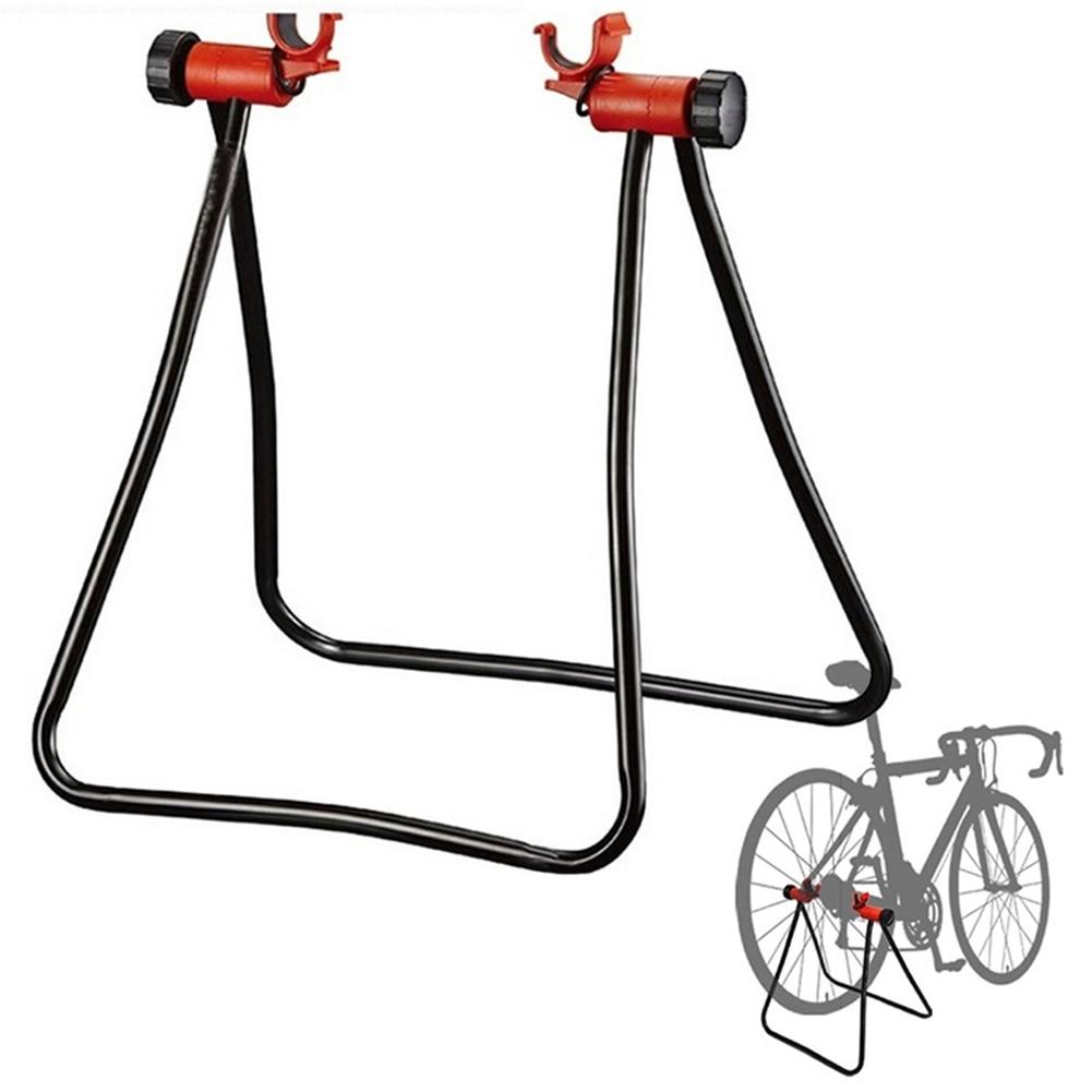 Bike Hub Repair Stand Bicycle Floor Stand Storage Rack Triangle