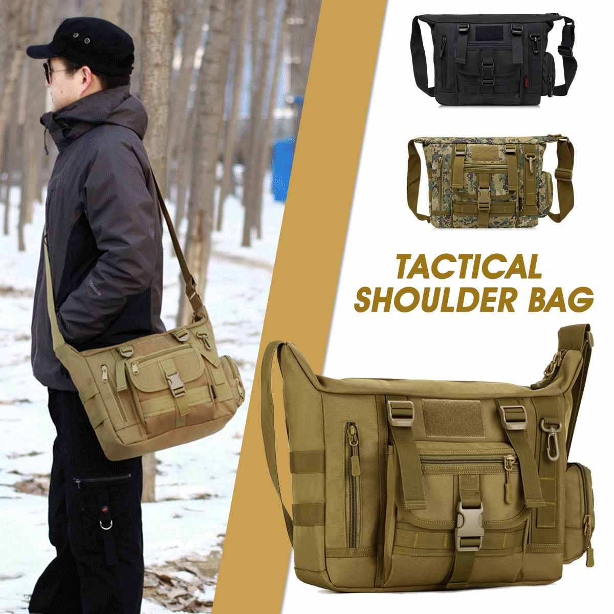 Osmond Outdoor Anti Theft Tactical Shoulder Bag Travel Camping Sports Handbags Hiking Fishing Hunting Climbing Trekking Backpack