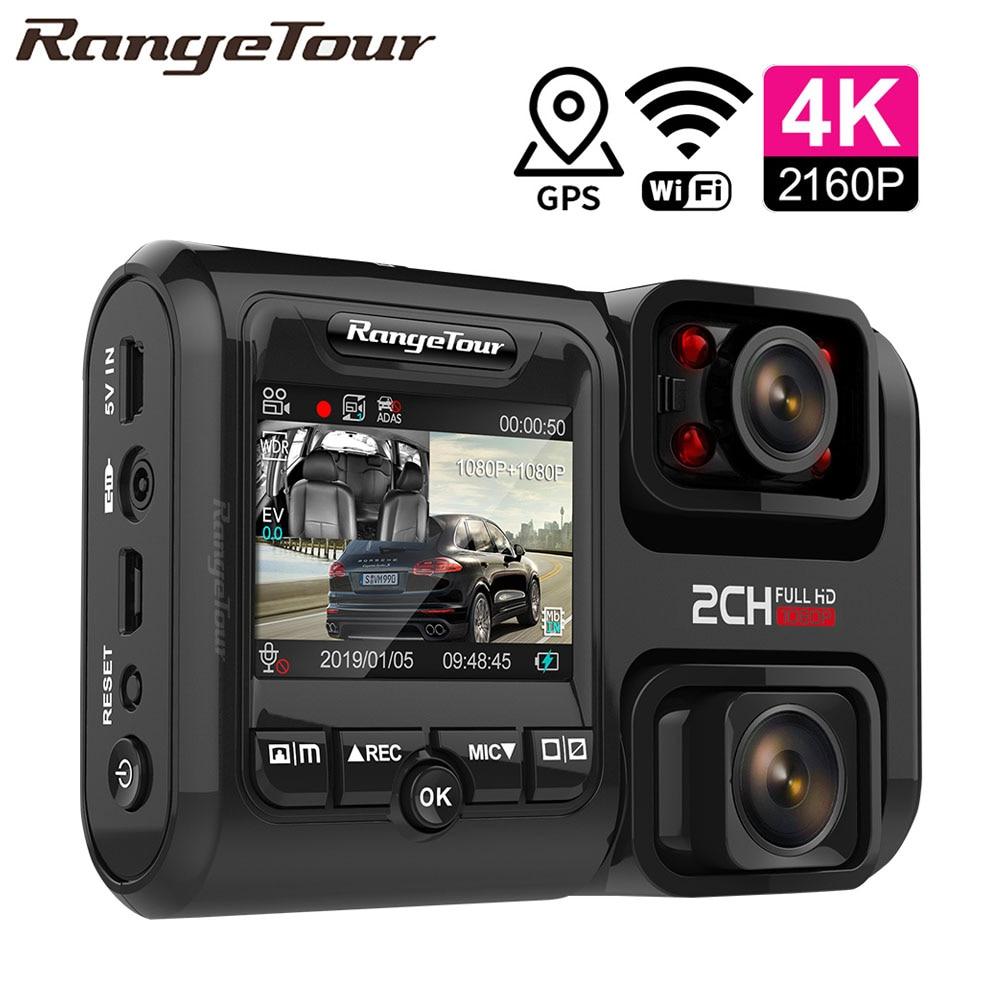 4K 2160P واي فاي لتحديد المواقع مسجل سيارة بعدسة مزدوجة DVR نوفاتيك 96663 رقاقة سوني IMX323 الاستشعار للرؤية الليلية كاميرا مزدوجة كاميرا التسجيل الخاصة بالسيارات D30H-في كاميرا DVR/Dash من السيارات والدراجات النارية على AliExpress