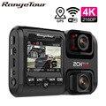 4K 2160P WI-FI GPS регистратор Двойной объектив Видеорегистраторы для автомобилей Новатэк 96663 чип Sony IMX323 Сенсор Ночное Видение Двойной Камера Dash Cam ...