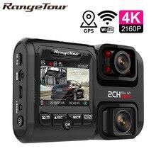 Sony IMX323 cámara Dual para coche grabador de cámara de salpicadero D30H 4K, 2160P, WIFI, GPS Logger, lente Dual, DVR Novatek 96663, Chip