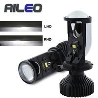 H4 9003 LED RHD/LHD Mini Bi LED Projector Headlight Lens 90W 6500K LED H4 Headlamp Retrofit Car Styling High Low Lights 12v 24v