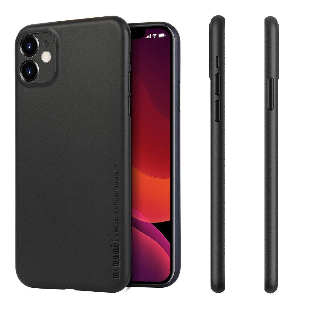 11 memumi Caso Magro para iPhone 6.1 polegada 2019, 0.3 milímetros Ultra Slim Matte Acabamento Revestimento de Ajuste Fino para iPhone Caso de Telefone 11