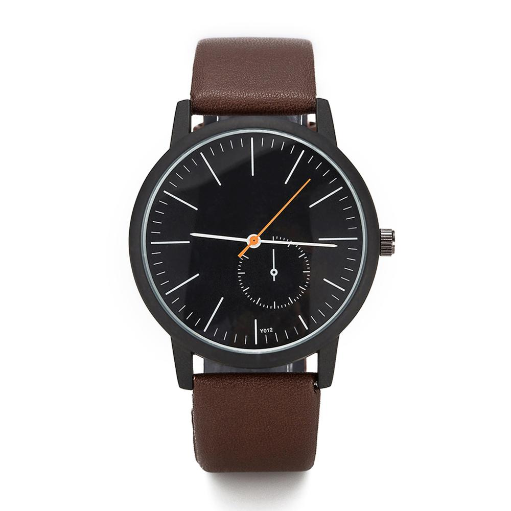 Women/men watches 2020 simple watch dial casual leather quartz watches vintage design clock free shipping|Women