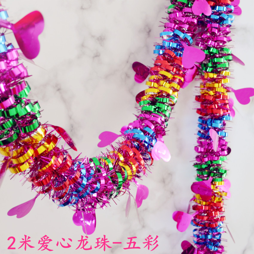 Christmas Tinsel Wool Tops Kindergarten New Year's Day Shopping Mall Decoration Decorative Latte Art Ribbon Party Wedding Decora