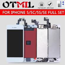 Full assembly LCD screen For iPhone 5 5C 5S SE LCD Display LCD Touch Screen Digitizer full set Replacement pantall+Button+Camera стоимость