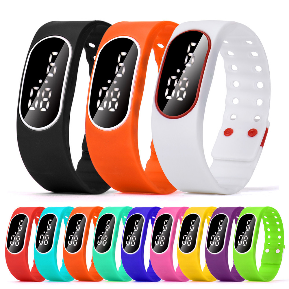 Bracelet Watch-Date Sport-Watch Morning Digital Silicone Women Ladies LED Rubber