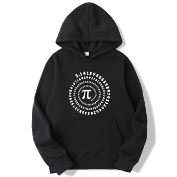 XIN YI Fashion brand mens hoodie Mathematical geometry printing Harajuku Fleece Hoodie Hooded Men Hoodies sweatshirt