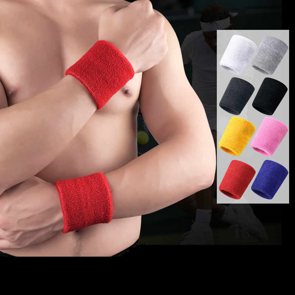 20 ^ 1 Pc Polsbandjes Sport Zweetband Hand Band Zweet Polssteun Brace Wraps Guards Voor Gym Volleybal Basketbal Tennis hot