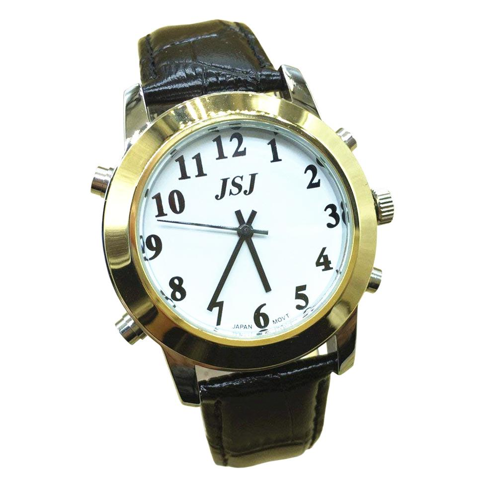 English Talking Watch For The Blind And Elderly Or Visually Impaired People With Leather Band