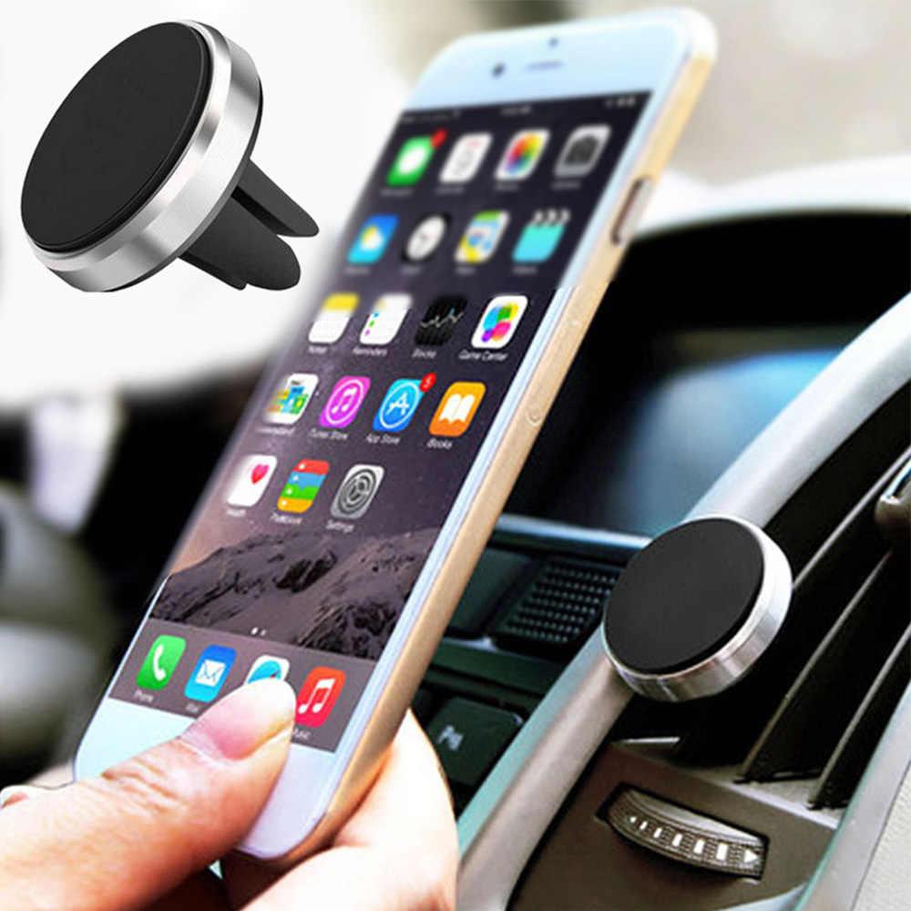 Soporte magnético para teléfono en Xiaomi Pocophone F1 Huawei Car GPS Air Vent Mount imán soporte para teléfono móvil para iPhone 7 Samsung